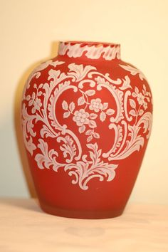 Thomas Webb English Cameo Glass Vase - English  c. 1900
