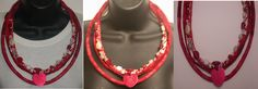 Leya Lives By Faith: Red Tribal Heart Necklace