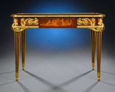 The Beurdeley Mechanical Desk.This superb mechanical desk by famed French ebeniste Alfred Emmanuel Louis Beurdeley is both an artistic and engineering achievement.