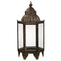 Jamie Young Moroccan Lantern Antique Bronze @zinc_door #zincdoor #lantern #lamp
