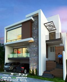 9 Simple and Modern Ideas: Contemporary Architecture Interior contemporary ideas pools. House Front Design, Modern House Design, Stairs Architecture, Architecture Design, Indian Architecture, Diy Home Decor Rustic, House Elevation, Exterior House Colors, House Exterior Design