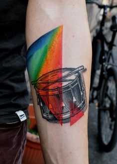 I love the use of color on this black tattoo! Marcin Aleksander Surowiec
