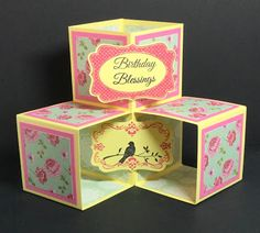 Early Morning Crafts: August Scor-Pal Challenge Birthday Blessings, Cardmaking And Papercraft, Circle Punch, Pink Patterns, Gift Certificates, Vintage Tea, Early Morning, Tea Party, Stamping
