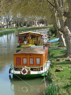 Canal du midi, Languedoc Roussillon, France