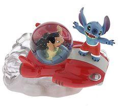 Disney Limited Edition Snowglobes: Lilo and Stitch Mini-Snowglobe Lilo And Stitch 3, Cute Stitch, Disney Stitch, Disney Home, Disney Fun, 626 Stitch, Disney Snowglobes, Pixar, Disney Ornaments