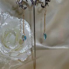 Boucles-d'oreilles plaqué or et cristal ref d 355