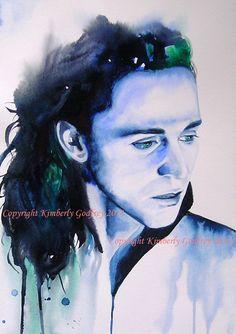 Set of 4 Loki ART Prints of Original by KimberlyGodfrey on Etsy, £29.99