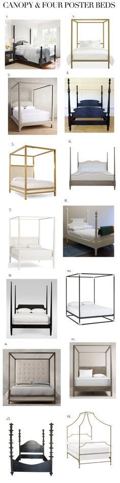 Elements of Style Blog | Canopy and Four Poster Beds | http://www.elementsofstyleblog.com