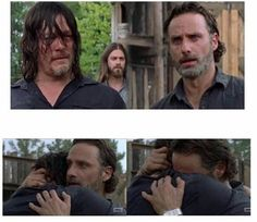 Best hug ever!!!! OMG I cried and laughed like a crazy person!! My men are together again!!