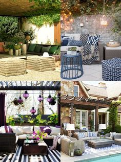 """Social Patio Design Ideas - Hutsly. The Joneses have got new garden furniture; and they're bragging about it. Of course your competitive self is thinking: """"I could do better"""". But decorating a patio, a backyard, a porch, a balcony or a terrace is no easy task and you may be lost for ideas. Where to start? Right here!"""