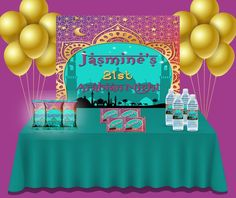 Arabian Nights Party, Paper Party Bags, Moroccan Party, Bubble Bottle, Party Pops, Chip Bags, Candy Wrappers, Backdrops For Parties, Party Items