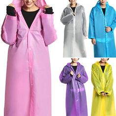 Print Hooded Waterproof Jacket Long Sleeve Raincoat Children Rain Coat C1MY