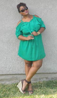 Cute green dress #plus #size