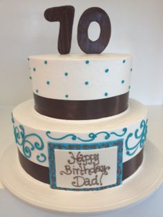 2 tier with piping and ribbon