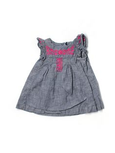 baby gap embroidered dress - $10