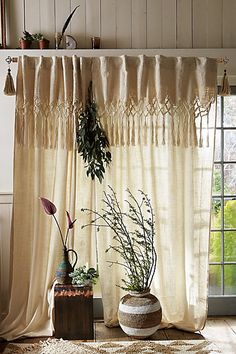 Knotted Macrame Curtain #anthropologie