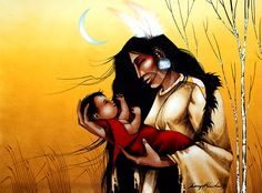 Evening Lulaby by Garry Meeches kp Native American Paintings, Native American Artists, Canadian Artists, Modern Indian Art, Native Art, Native Americans, Art World, Fashion Art, Nativity