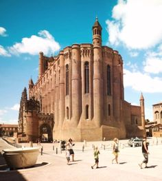 """Albi, France.  \\ The Cathédrale Sainte-Cécile d'Albi is one of the biggest brick buildings in the world. La ville rouge.An hour's drive from Toulouse in southwest France is Albi.It's called """"the Red Town""""."""