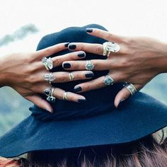 Boho rings. For more followwww.pinterest.com/ninayayand stay positively #inspired