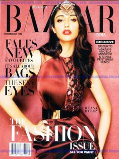 Here is Ileana D'cruz latest photoshoot for Harper's Bazaar Magazine for the month of september. Description from funmag.org. I searched for this on bing.com/images
