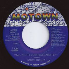 All Night Long (All Night) ... Lionel Richie