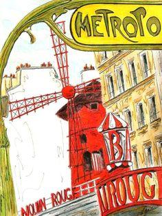 moulin rouge painting | moulin rouge par daniel authouard le moulin rouge par ron