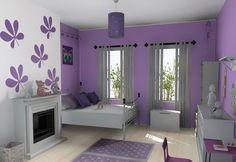 Kids Bedroom Ideas Purple Color Scheme Kids Bedroom Decoration