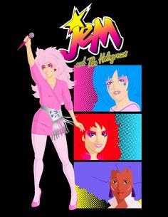 Jem and The Holograms - T-Shirt design by MannyHernan.deviantart.com