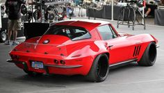 This 1965 Chevrolet Corvette Stingray has been owned by the Hobaugh family for more than 30 years. The quality of this restomod is astounding. 1965 Corvette, Chevrolet Corvette Stingray, Corvette Summer, Little Red Corvette, Sport Cars, Race Cars, Muscle Cars, Cool Cars, Classic Cars