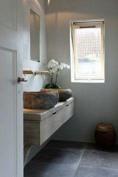 Rustiek badkamer