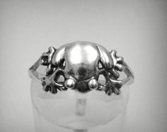 R001275 STERLING SILVER Ring Solid 925 Frog