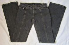 Men's EGO Stretch Flare Dark Wash Jeans Low Rise Size 27 x 38 Made in USA  #EGO #SlimSkinny