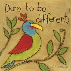 Be Different - Posters av Anne Tavoletti på AllPosters.se