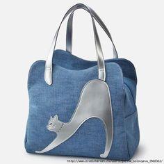 Kitties bags gato na bolsa jeans: