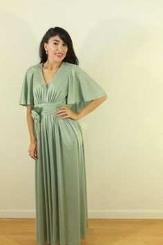 Fred Rothschild of California 1960s Green Cape Awesomeness by VintageRevival818 on Etsy