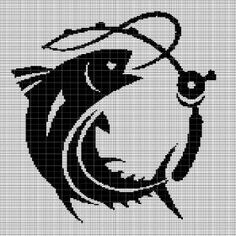 Digital computer model - not printed on paper This is a pattern only Not a kit or finished piece No fabric or floss are included in this listing Stitch Counts Filet Crochet, Crochet Fish, Giraffe Crochet, C2c Crochet, Tapestry Crochet, Fish Patterns, Afghan Crochet Patterns, Cross Stitch Designs, Cross Stitch Patterns