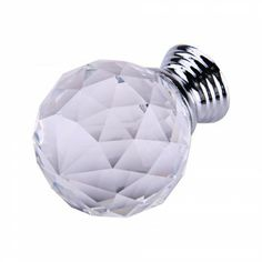 [AU $4.45] Clear Round Crystal Glass Cabinet Drawer Door Pull Knobs Handles 40mm