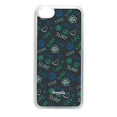 Love Life Surf Green Crystal Clear Hard Plastic Case for iPhone 5C by Gadget Glamour  FREE Crystal Clear Screen Protector *** Continue to the product at the image link.