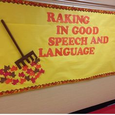 November speech bulletin board