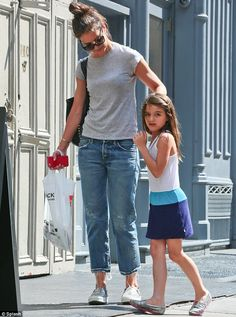 Partners in crime! Katie Holmes and Suri Cruise were spotted shopping at Blick Art Materia...