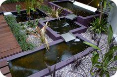 spillways on the rooftop water gardens  w/ multi-level decks