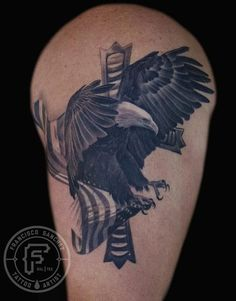 Cat Tattoo : Tattoos : Francisco Sanchez : bald eagle tattoo