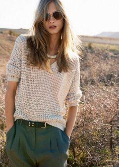 Knitted Blouse.  -Jess Perotti via Sezen Saka