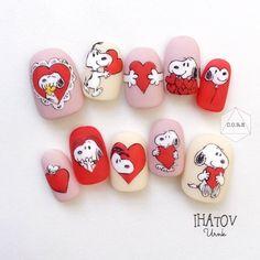 Snoopy Halloween, Halloween Nails, Snoopy Nails, Pink Black Nails, Pointy Nails, Girls Nails, Heart Nails, Gel Nail Art, Nail Arts