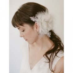 touch of blue silk fascinator