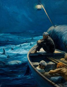 Artwork by Anton Otto Fischer, Moby Dick, Made of Oil on canvas Anton, Moby Dick, Artist Biography, Cultural, Art Auction, Oil On Canvas, Whale, Sunrise, Poster