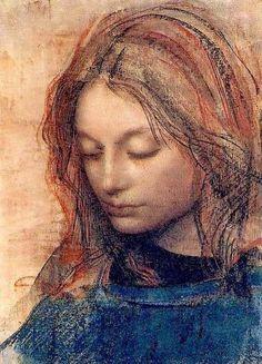 """""""Christina"""" by Pietro Annigoni Italian Portrait & Fresco Painter . Figure Drawing, Painting & Drawing, Art Visage, L'art Du Portrait, Religious Art, Our Lady, Face Art, Storyboard, Figurative Art"""