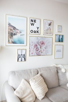 How to Style a Gallery Wall: Small Space Inspiration - GoodTomiCha Frame Wall Decor, Simple Wall Decor, Simple Wall Paintings, Gallery Wall Bedroom, Gallery Wall Living Room, Wall Decor Bedroom, Photo Wall Decor, Wall, Small Space Inspiration