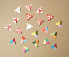 Origami Triangles - for decorating presents?