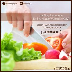 For a Grand Housewarming Party, ofcourse you'll need a best Cook in town. Book A Cook- www.housekeepings.in or WhatsApp- 96119 64260 #CookOnCall